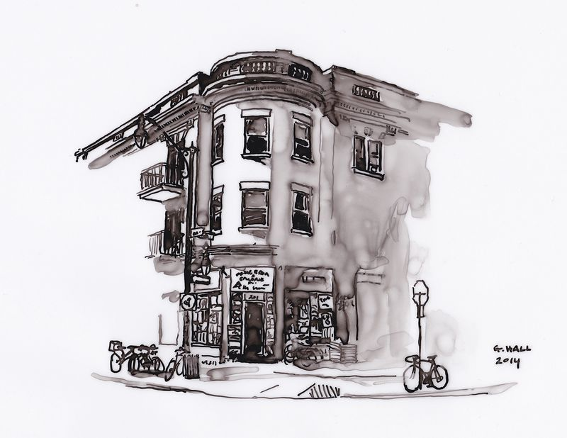 Drawing Depanneur (Marche Bernard) by Graham Hall