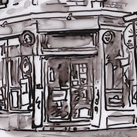 Drawing Depanneur (Hari's) by Graham Hall