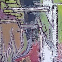 Mixed-media artwork Stitched by Amy Graham