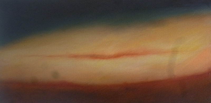 Oil painting desert light by Lisa Tomczeszyn
