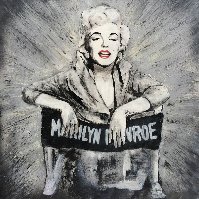 Acrylic painting Marilyn Hollywood by Carly Jaye Smith