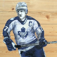 Acrylic painting Darryl Sittler by Carly Jaye Smith