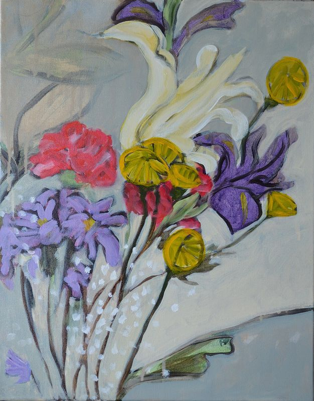 Acrylic painting Flowers for Zoë Tousignant by Graham Hall