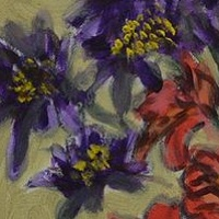 Acrylic painting Flowers from Zoë Tousignant by Graham Hall