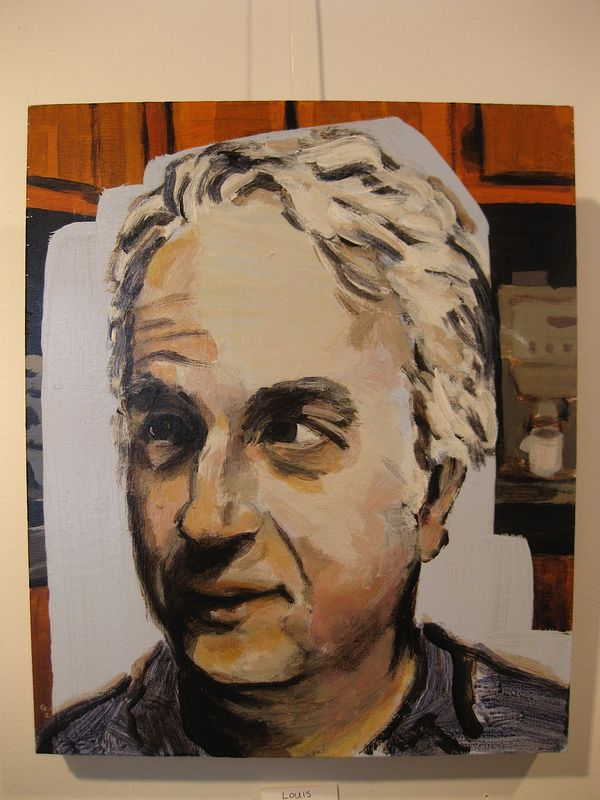 Acrylic painting Louis Rastelli by Graham Hall