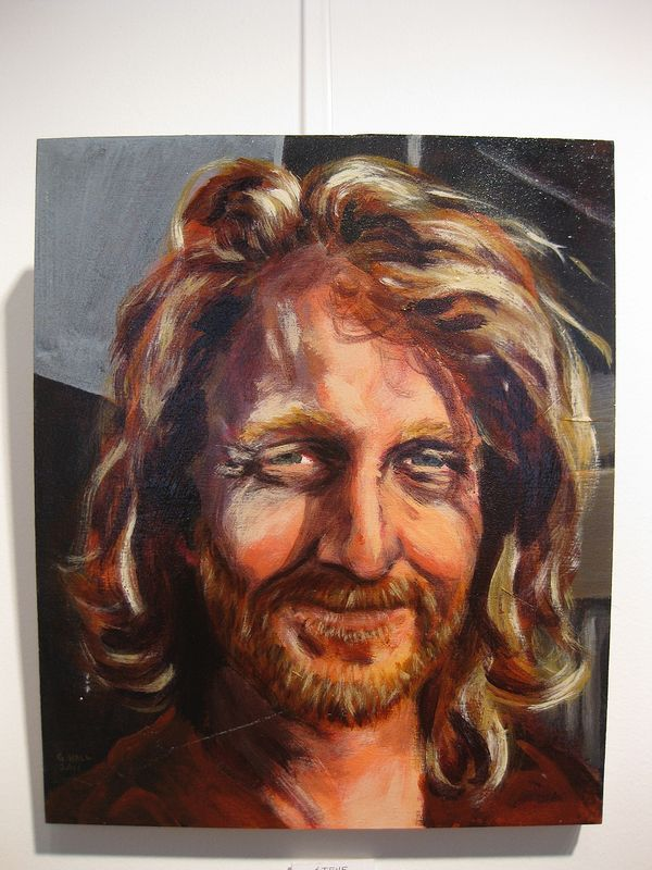 Acrylic painting Steve Topping by Graham Hall