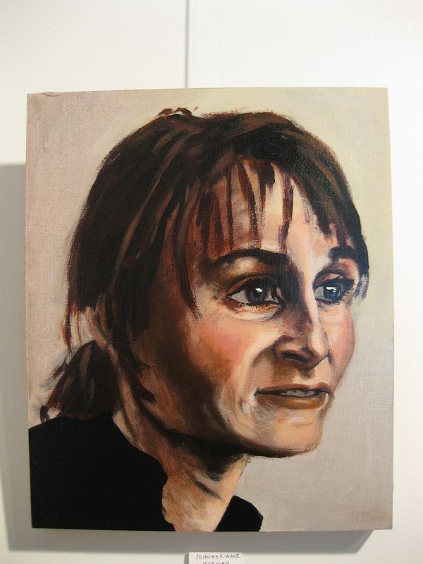Acrylic painting Jennifer-Anne Norman by Graham Hall