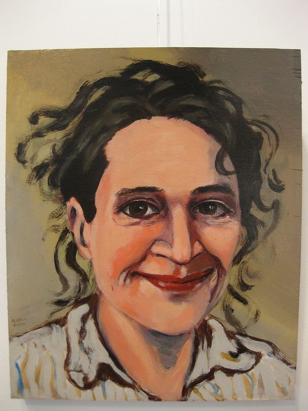 Acrylic painting Catherine Bodmer by Graham Hall