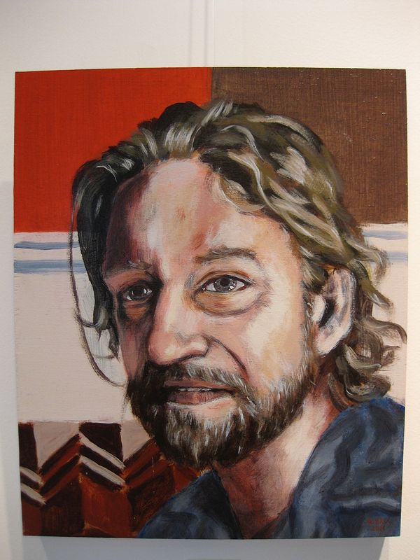 Acrylic painting Ted Minett by Graham Hall