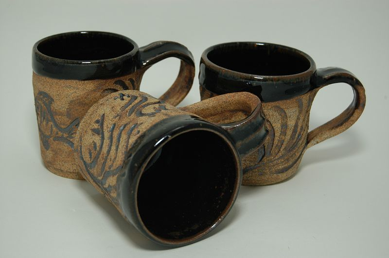 Hand Carved Mugs  by Jack Caselles