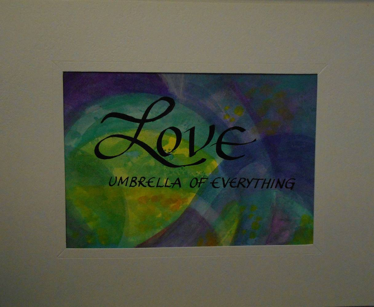 Painting LOVE by Georgette  Jones