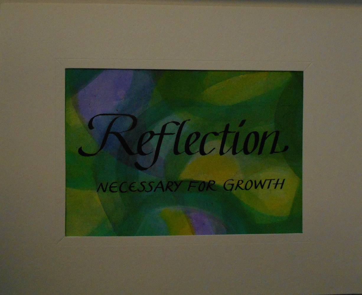 Painting REFLECTION by Georgette  Jones