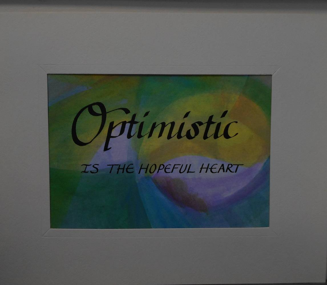 Painting OPTIMISTIC by Georgette  Jones