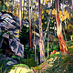 Oil painting Bush Panorama by Guntis Jansons