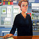 Oil painting Amy the Barmaid by Jodi Jansons