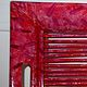 Acrylic painting FRONT VIEW OF RED TRAY by Georgette  Jones