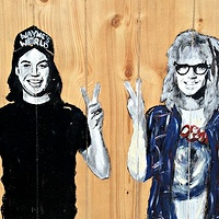 Acrylic painting Waynes World... Excellent by Carly Jaye Smith