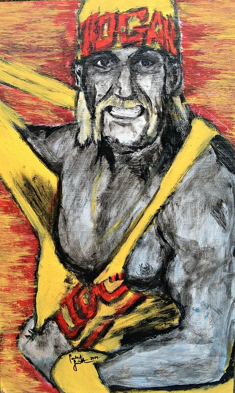 Acrylic painting Hulkamania by Carly Jaye Smith