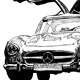 Drawing 300SL by Hendrik Gericke