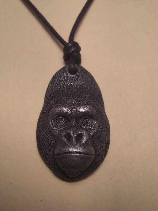 Western lowland gorilla Dark cold cast pewter by Jason  Shanaman