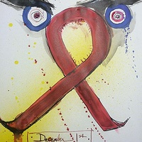 Mixed-media artwork aidsday by Joey Feldman