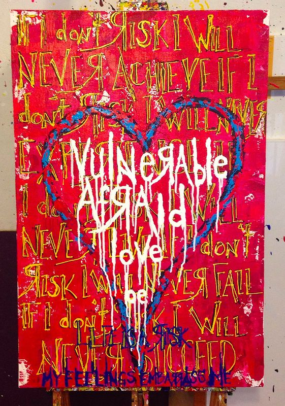 Acrylic painting be love (red) by Jeffrey Newman