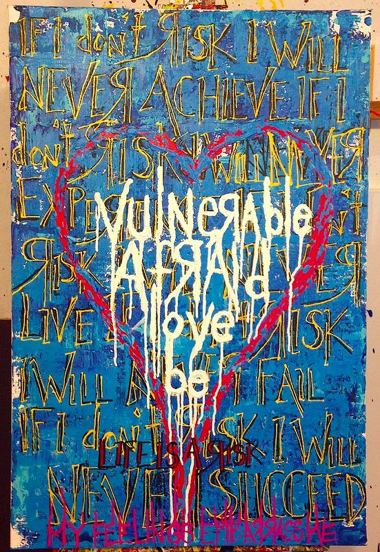 Acrylic painting be love (blue) by Jeffrey Newman