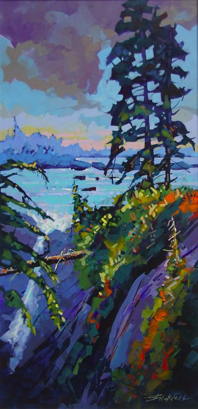Black Rock View  Acrylic18x3 6 2014 - Copy by Brian  Buckrell
