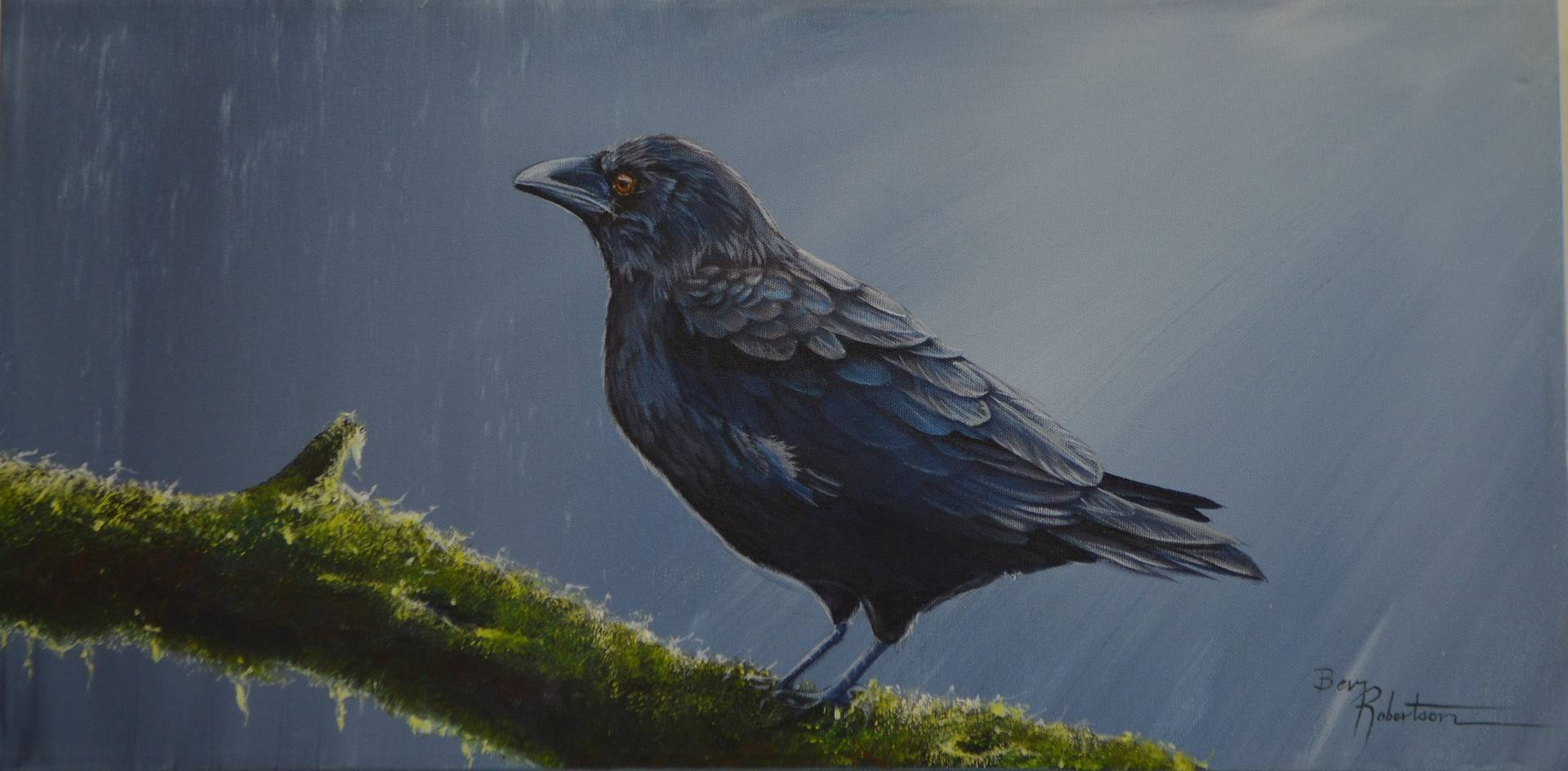 Forest Raven II by Bev Robertson