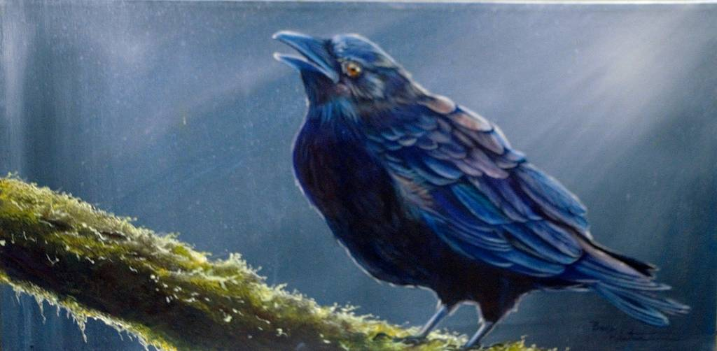 Forest Raven by Bev Robertson