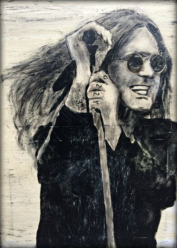 Acrylic painting Ozzy by Carly Jaye Smith