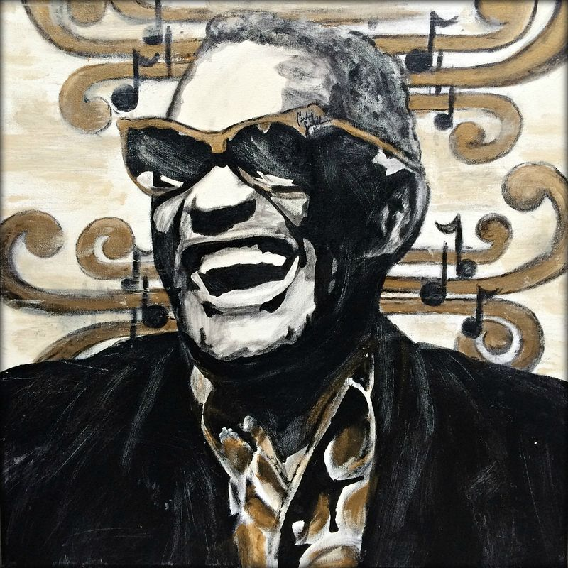 Acrylic painting Ray Charles by Carly Jaye Smith