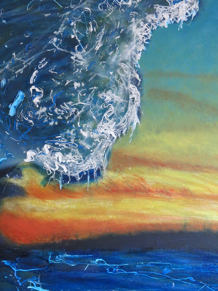 Primordial Surf Session (detail) by Steven Simmons