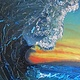 Acrylic painting Primordial Surf Session (Soup's Up!) by Steven Simmons
