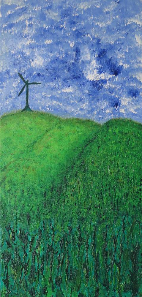Acrylic painting Gone With The Windmill by Steven Simmons