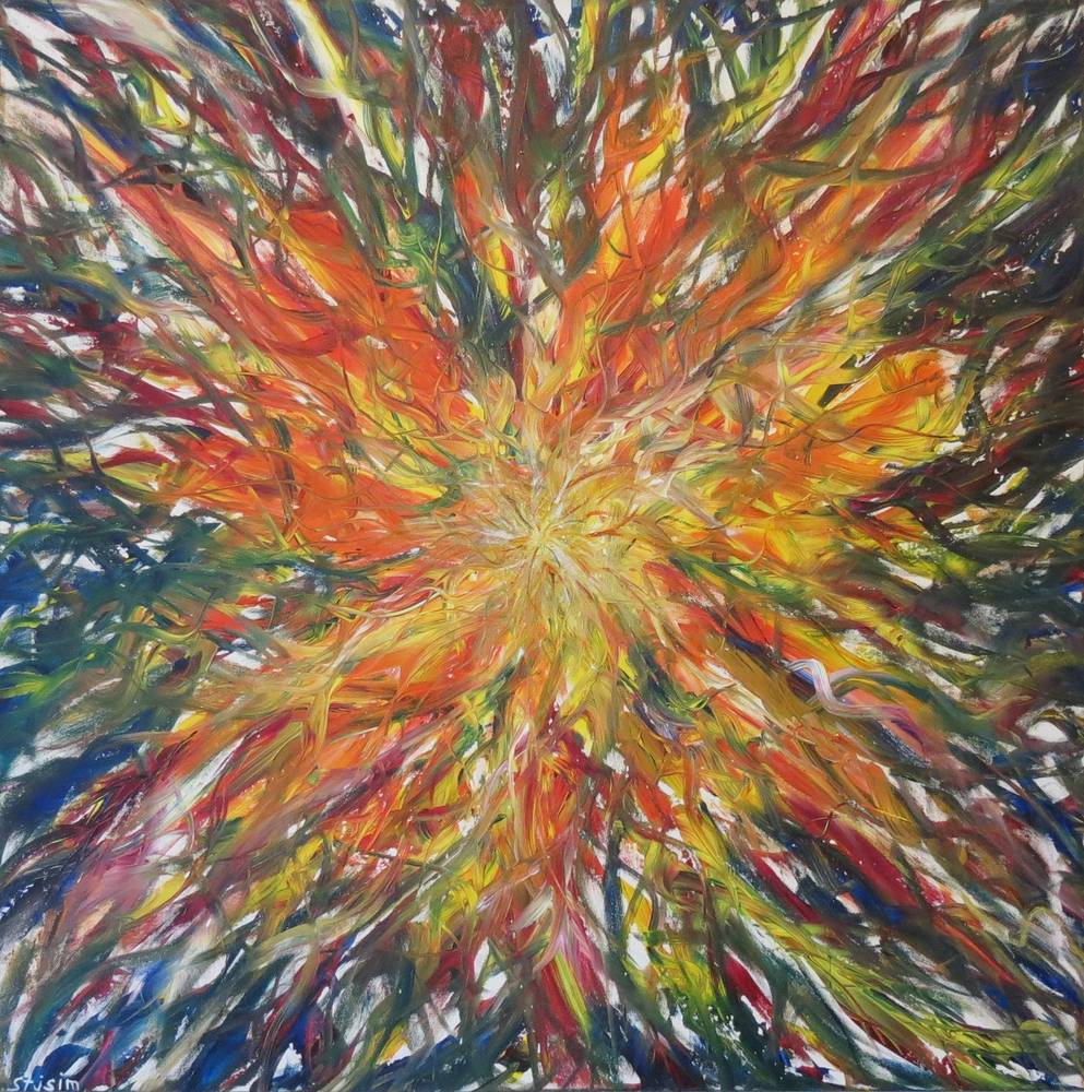Acrylic painting Eugene's Euphoria by Steven Simmons