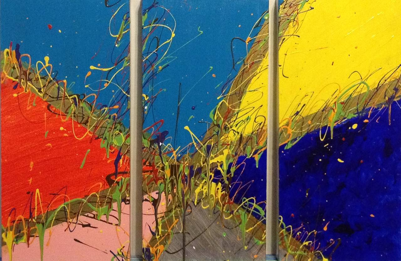 Acrylic painting Tres Cray (Triptych) by Steven Simmons