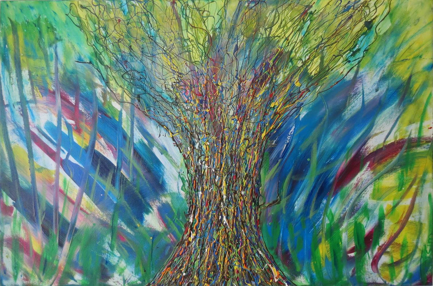 Acrylic painting The Kairos Tree by Steven Simmons
