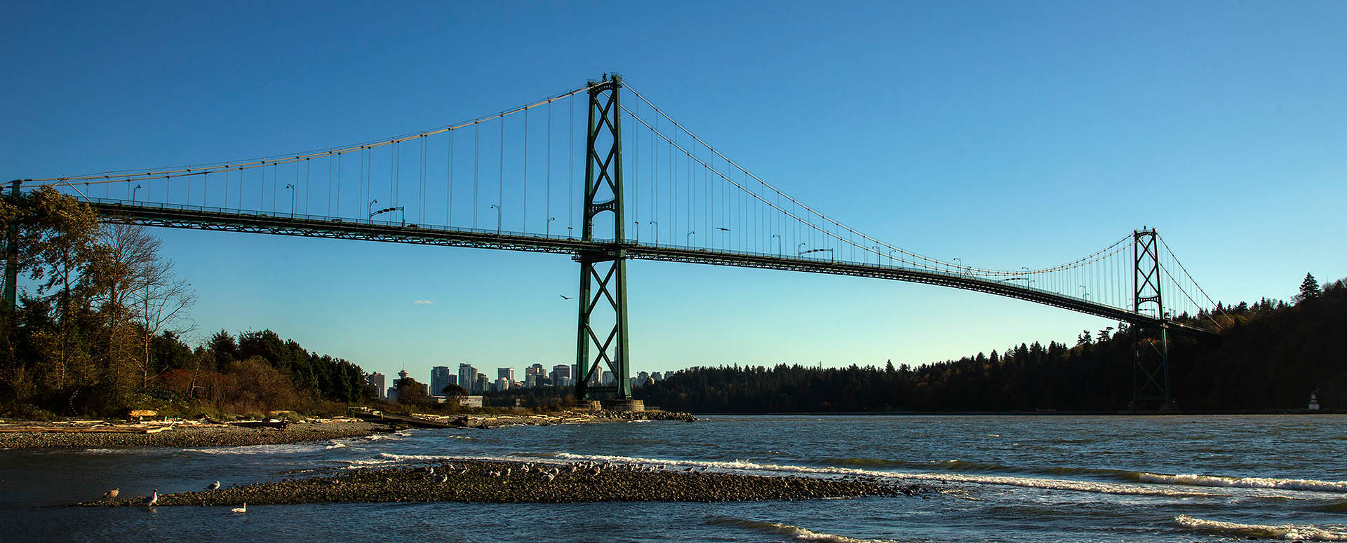 Lions Gate and City Skyline by William Kent