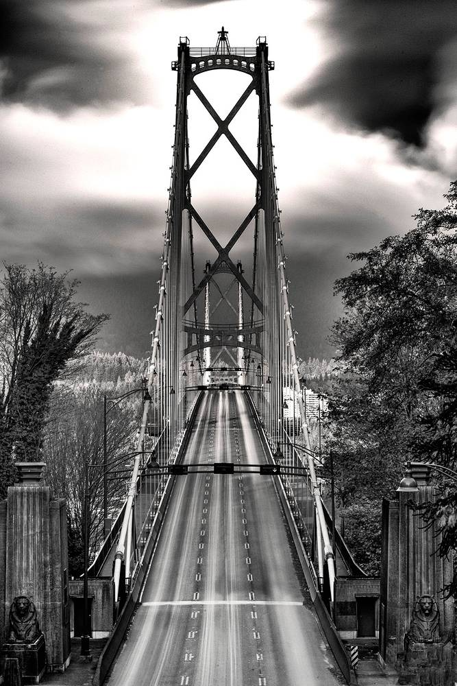 Lions Gate Bridge from Overpass by William Kent