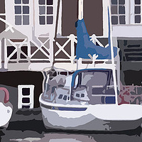 Acrylic painting November at the Vancouver Rowing Club by Stephen Middleton
