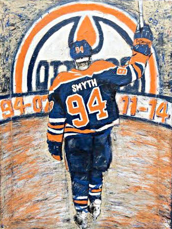 Acrylic painting Retired Ryan by Carly Jaye Smith
