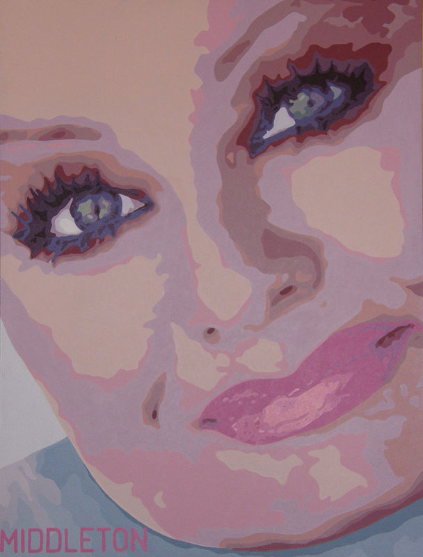 Acrylic painting  Tammy Faye by Stephen Middleton