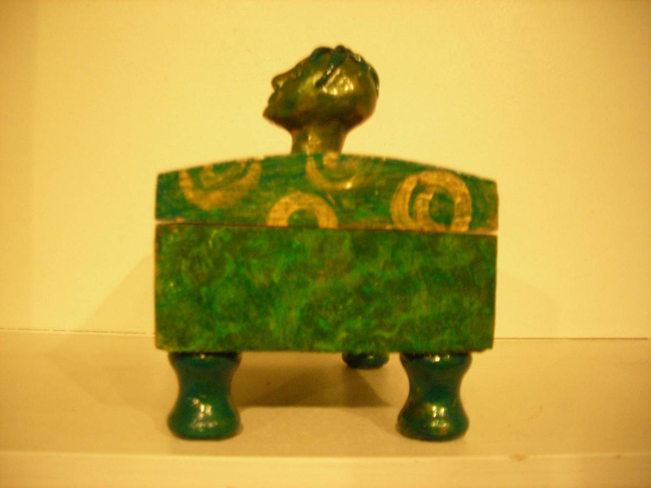 Painting SQUAT BOX SIDE VIEW by Georgette  Jones