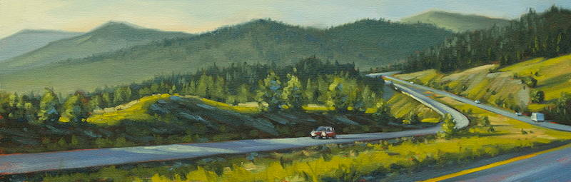 Oil painting Coquihalla Sunset by Bryan  Coombes