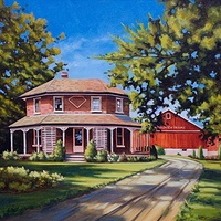 Painting Family Farm by Bryan  Coombes