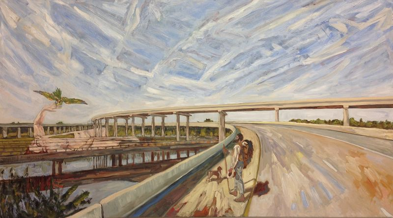 Oil painting Morning Interchange by Edward Miller