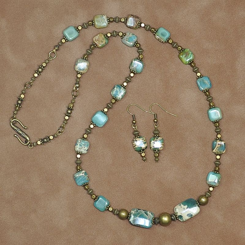 Aqua Terre beads by Sue Ellen Brown
