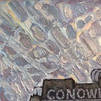 Oil painting Conowingo Power Plant by Edward Miller
