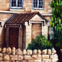 Oil painting Portrait of a House by Richard Mountford